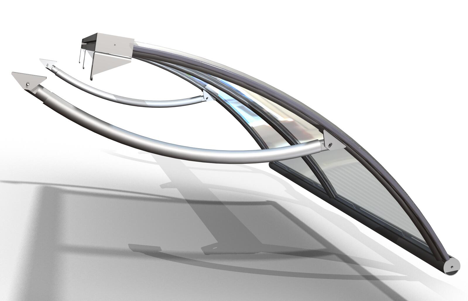 Tettoie trasparenti pensiline in plexiglas e molto - Portapentole da soffitto ...